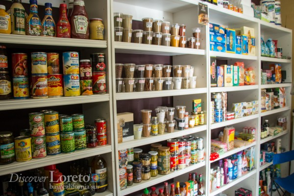 Store shelves at Dali Gourmet in Loreto Bay.
